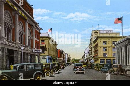 Reno, Nevada, USA - Virginia Street looking North - Stock Photo