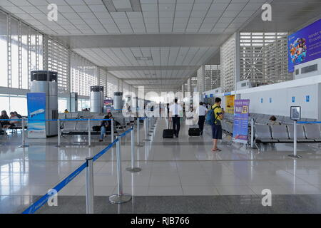 Manila / Philippines - A view from the passenger lounge of Ninoy Aquino International Airport in Manila, Philippines. - Stock Photo