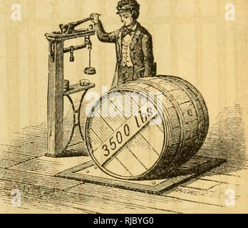 . Charles V. Mapes'. Agricultural machinery. Fig. 426. Hay Scales. Fig. 427. Warehouse Scales.. Please note that these images are extracted from scanned page images that may have been digitally enhanced for readability - coloration and appearance of these illustrations may not perfectly resemble the original work.. Mapes, Charles Victor, 1836-1916. [from old catalog]. New York, M'Crea & Miller - Stock Photo