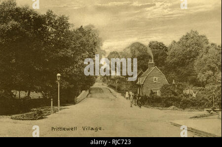 View of the Village of Prittlewell, near Southend-on-Sea, Essex. - Stock Photo
