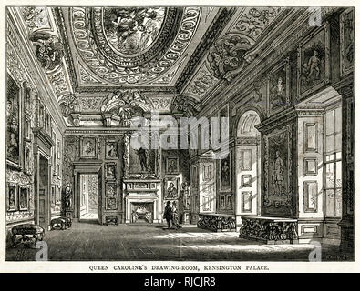Queen Caroline's drawing room, Kensington Palace, London. - Stock Photo