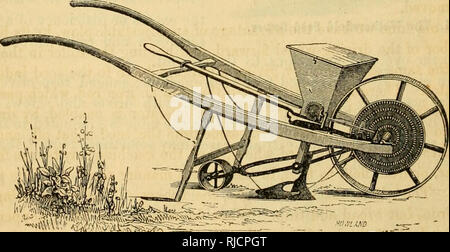 . Charles V. Mapes'. Agricultural machinery. Fig. 134. Seed Sower No. 2.. Please note that these images are extracted from scanned page images that may have been digitally enhanced for readability - coloration and appearance of these illustrations may not perfectly resemble the original work.. Mapes, Charles Victor, 1836-1916. [from old catalog]. New York, M'Crea & Miller - Stock Photo