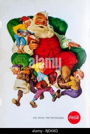1960 magazine advert advertising Coca-Cola. - Stock Photo