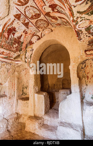 Goreme, Nevsehir Province, Turkey : Christian murals inside a rock hewn church near Goreme in the historical Cappadocia region. - Stock Photo