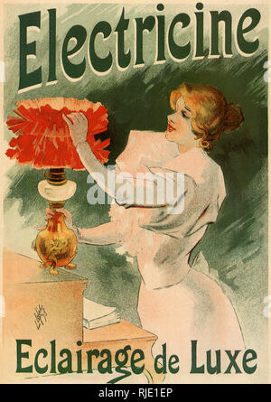 Poster Advertisement for Electric Lamps. - Stock Photo