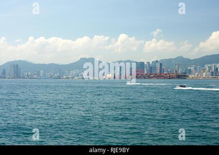 HONG KONG - MAY 09, 2012: daytime view of Hong Kong. Hong Kong, is an autonomous territory on the southern coast of China at the Pearl River Estuary a - Stock Photo