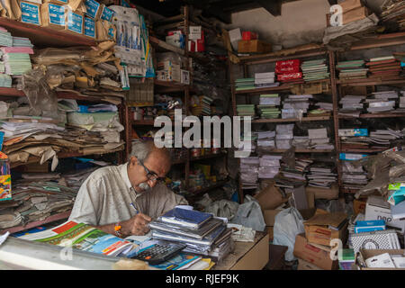 stationery shop, cochin, kerala, india - Stock Photo
