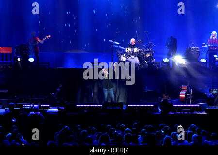 Verona, VR, Italy - September 23, 2018: Live Concert at Verona Arena of ANTONELLO VENDITTI an Italian singer-songwriter and musician - Stock Photo