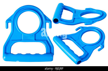 Plastic handle for carrying  large (19 liters) bottles isolated on white background. A special design is the side hooks allow you to suspend - Stock Photo