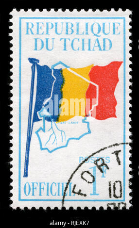 Postmarked stamp from Chad in the Official issue of 1966 - Stock Photo