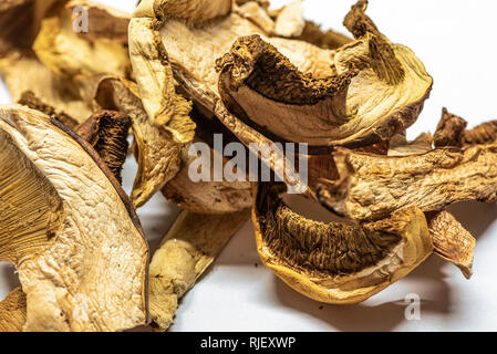 Healthy dried mushrooms for vegan cooking - Stock Photo