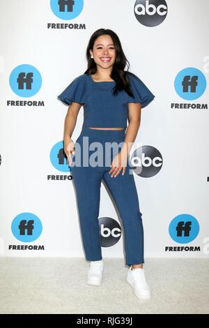 LOS ANGELES - FEB 5:  Cierra Ramirez at the Disney ABC Television Winter Press Tour Photo Call at the Langham Huntington Hotel on February 5, 2019 in Pasadena, CA Credit: David Edwards/MediaPunch - Stock Photo