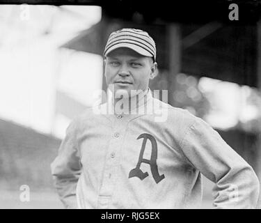 Amos Aaron Strunk,  Philadelphia Athletics, 1914 - Stock Photo
