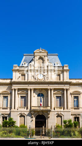 Facade of the building called prefecture de l'herault in the center of Montpellier city in France - Stock Photo