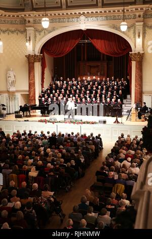 Interior of Cheltenham Town Hall during Gloucestershire Federation of Women's Institutes Christmas Concert at Cheltenham Town Hall  Picture by Antony  - Stock Photo