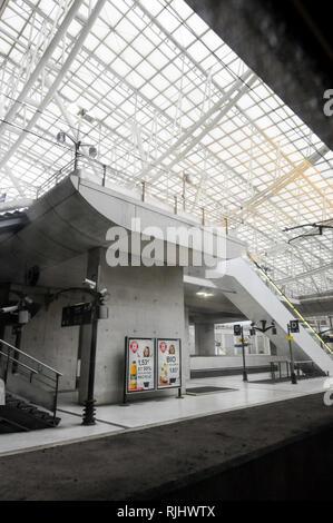Roissy TGV railway station, Val-d'Oise, Île-de-France, France - Stock Photo