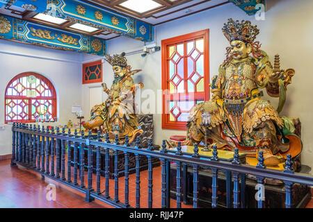 A Buddha god at the Po Lin Monastery on Lantau Island, Hong Kong, China, Asia. - Stock Photo