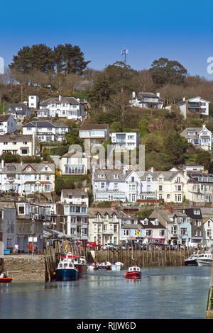 Looe, seaside town in south east Cornwall UK