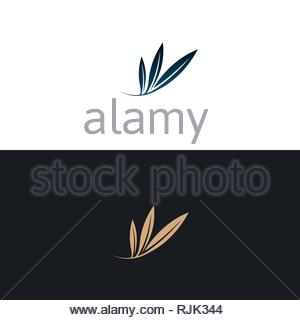 Unique logo which can help your business to grown up - Stock Photo