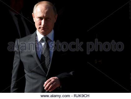 Russian President Vladimir Putin leaves 10 Downing Street in London on June 16 2013. - Stock Photo