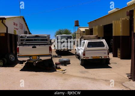 Werkstatt in Namibia - Stock Photo