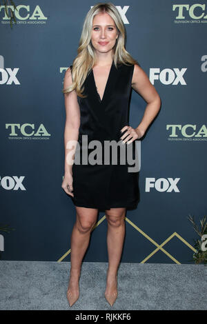 PASADENA, LOS ANGELES, CA, USA - FEBRUARY 06: Actress Kristine Leahy arrives at the FOX Winter TCA 2019 All-Star Party held at The Fig House on February 6, 2019 in Pasadena, Los Angeles, California, United States. (Photo by Xavier Collin/Image Press Agency) - Stock Photo