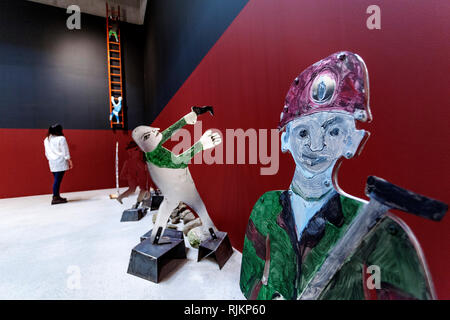 St Ives, Cornwall, UK. 7th February 2019.  Tate St Ives gallery opening of  art work by Anna Boghiguian.Credit: Mike Newman/Alamy Live News. - Stock Photo