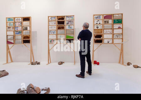 St Ives, Cornwall, UK. 7th February 2019.  Tate St Ives gallery opening of  art work by Anna Boghiguian. Credit: Mike Newman/Alamy Live News. - Stock Photo