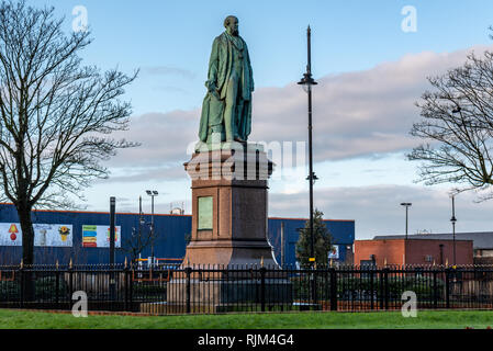 Sir James Ramsden Statue, Barrow in Furness - Stock Photo