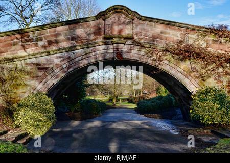 Port Sunlight Village - The iconic Dell Bridge - Stock Photo