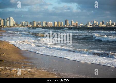 Punta del Este beach in Uruguay, Atlantic Coast - Stock Photo