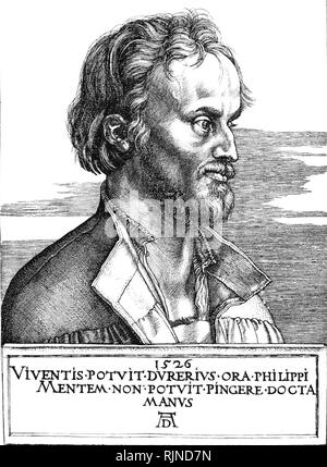 PHILIP MELANCHTHON (1497-1560) German Lutheran reformer - Stock Photo