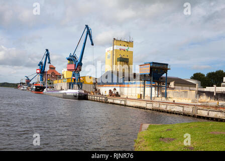 Rendsburg port, Kiel Canal, Rendsburg, Schleswig-Holstein, Germany - Stock Photo