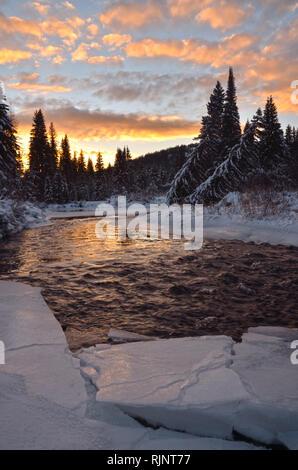 Yaak River In Kootenai National Forest Near Yaak Montana Stock