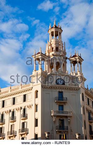 Valencia, 'Casa del Chavo', sede Tesorería Territorial de la Seguridad Social, Centro histórico, Comunidad Valenciana, España - Stock Photo