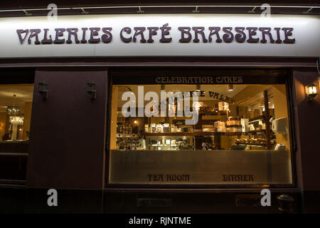 Glasgow, UK. 25 January 2019. Patisserie Valerie is a chain of cafés that operates in the United Kingdom. The chain specialises in hand-made cakes, an - Stock Photo