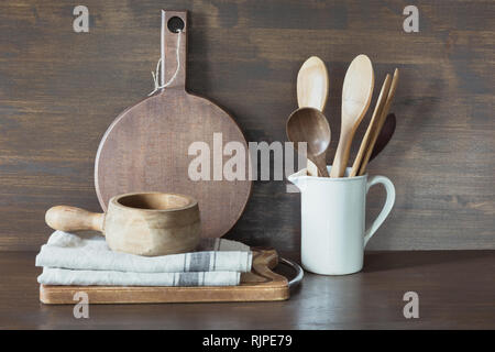 Crockery, clayware, white utensils and other different stuff. Kitchen still life. - Stock Photo