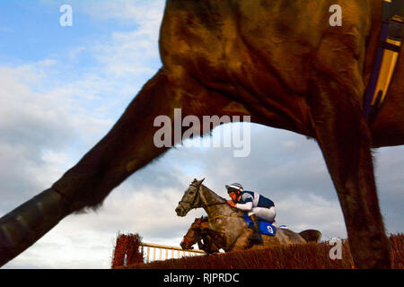 Cottenham , UK 2018-12-30. Racing at the Cottenham point to point meeting held over the christmas period - Stock Photo