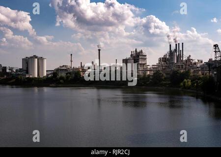 Industrial area in Krefelder Rheinhafen - Stock Photo