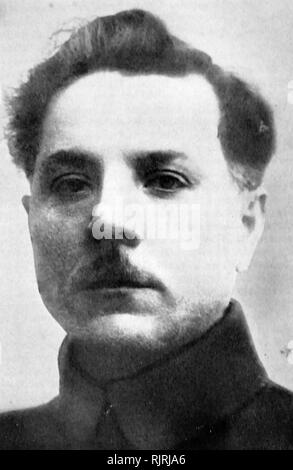 Kliment Voroshilov (1881 - 1969), Soviet military officer and politician during the Stalin era. He was one of the original five Marshals of the Soviet Union (the highest military rank of the Soviet Union), along with Chief of the General Staff of the Red Army Alexander Yegorov, and three senior commanders, Vasily Blyukher, Semyon Budyonny, and Mikhail Tukhachevsky. - Stock Photo