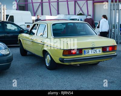 1981Mercedes-Benz 200D (W123). Retro Málaga 2019. Spain. - Stock Photo