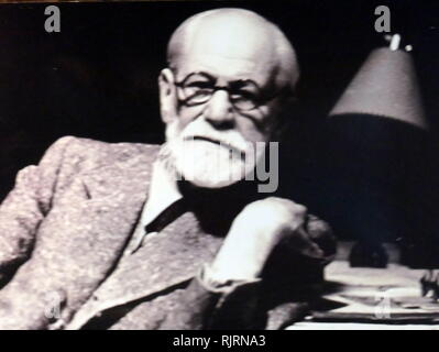 Sigmund Freud (1856 - 1939) Austrian neurologist and the founder of psychoanalysis, a clinical method for treating psychopathology through dialogue between a patient and a psychoanalyst - Stock Photo