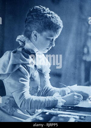 Mary of Teck (1867 - 1953), as Duchess of York circa 1895. Mary was later Queen consort of the United Kingdom and the British Dominions and Empress of India as the wife of King George V. - Stock Photo