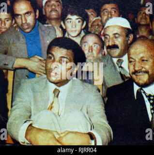 1976, visit to Turkey by Muhammad Ali,(1942 - 2016). Ali was an American professional boxer and activist; He is widely regarded as one of the most significant and celebrated sports figures of the 20th century. - Stock Photo