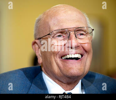 Washington DC, USA. 07th Feb, 2019. FILE PHOTO: Former Rep. JOHN DINGELL, the longest-serving member of Congress, has died at 92. PICTURED: Mar. 10, 2011 - Washington, District of Columbia, U.S. - Rep. JOHN DINGELL, (D-MI) testifies before a House Homeland Security Committee hearing on ''The Extent of Radicalization in the American Muslim Community and that Community's Response. Credit: Pete Marovich/ZUMAPRESS.com/Alamy Live News - Stock Photo
