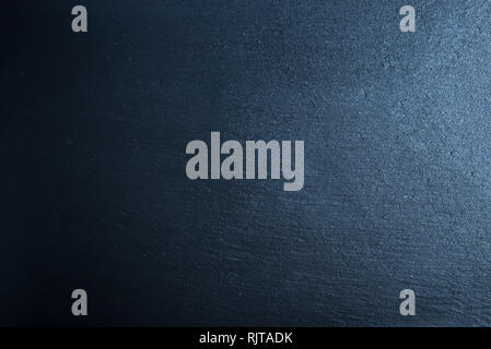 Blackboard texture. Black or blue stone dark abstract texture background with copy space for text or image. - Stock Photo