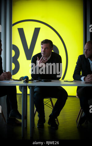 Michael Zorc photographed at Borussia Dortmund's grounds in Germany. He is the club's sporting director. - Stock Photo