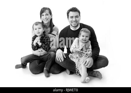 young British family - Stock Photo