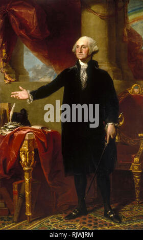 George Washington (The Lansdowne Portrait), Gilbert Stuart,1796 - Stock Photo