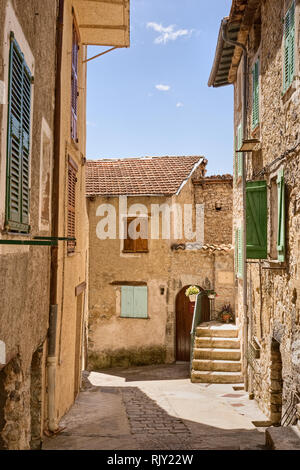 Street in Medieval French Town - Stock Photo